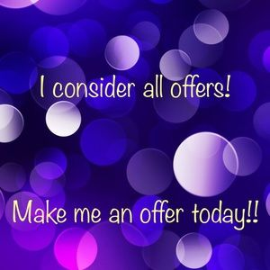 Make An Offer Today!! 💜